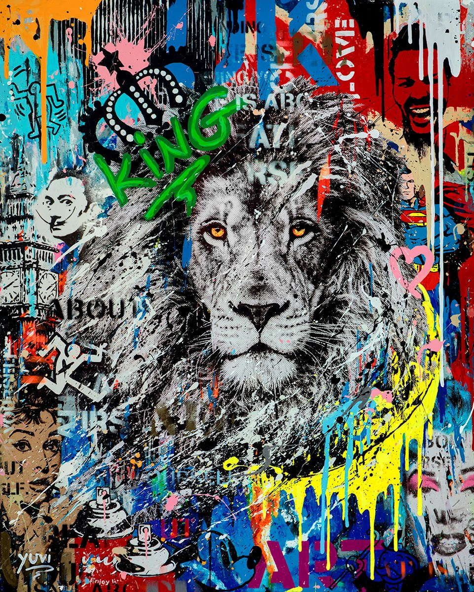 Urban Jungle II by Yuvi - Hand Finished Box Canvas sized 24x30 inches. Available from Whitewall Galleries